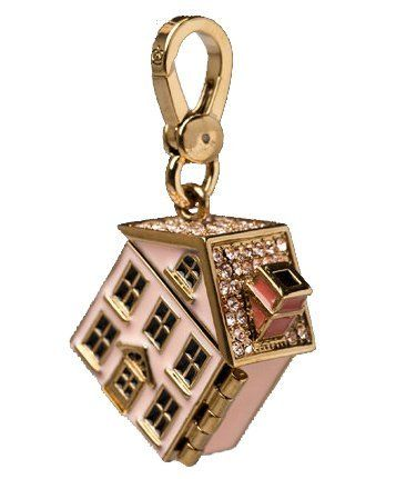 Juicy Couture Home Sweet Home Pink Dollhouse Gold Charm