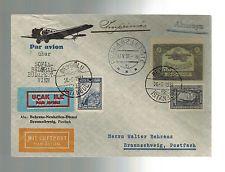 1931 Turkey airmail flight Cover to Germany Bulgaria Yugoslavia Hungary Austria