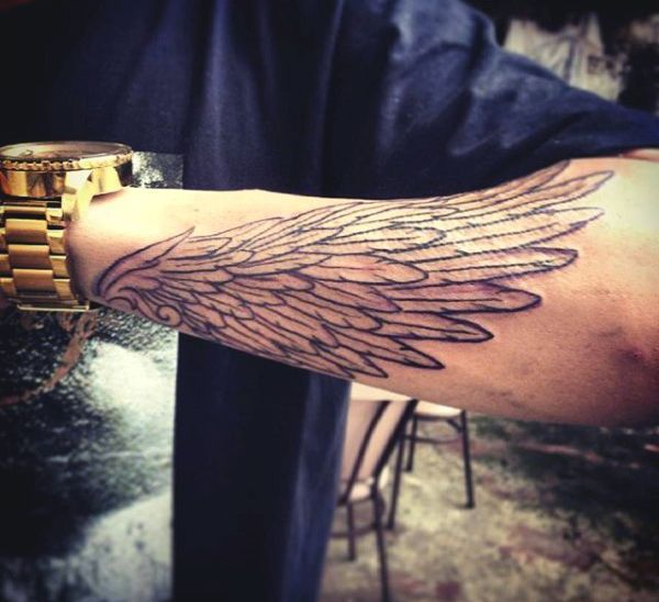 about Wing tattoo men on Pinterest | Small wing tattoos Ankle tattoo ...