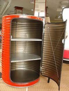 Resultado de imagem para oil drum seat