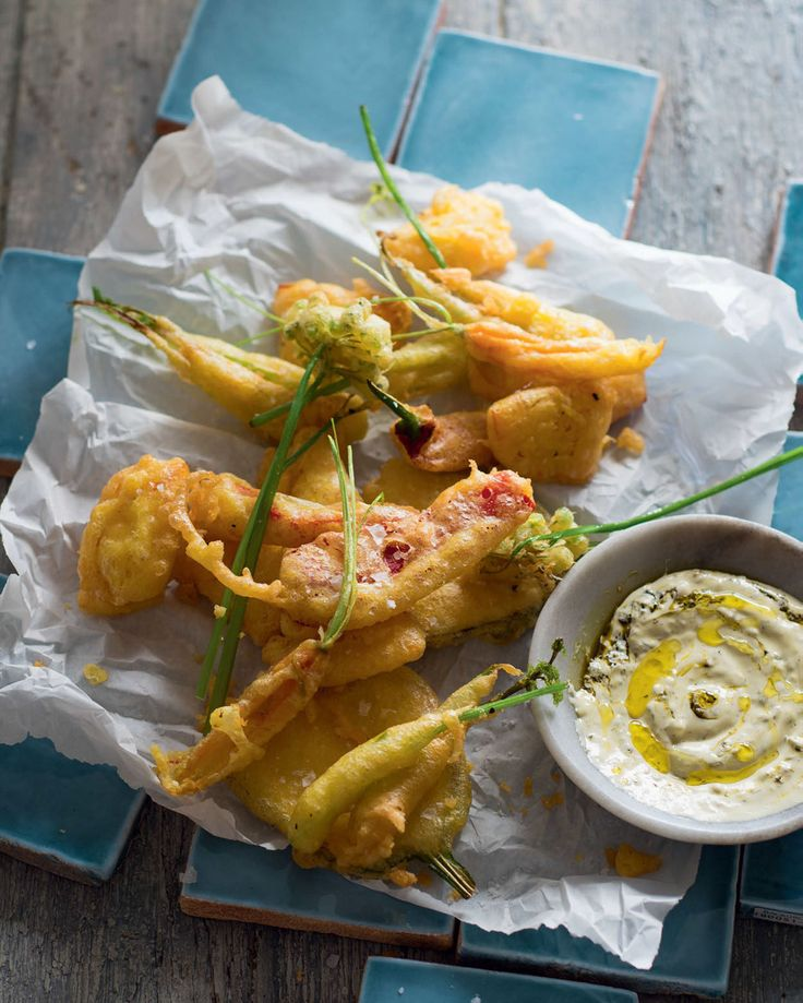 Vegetable 'fritto misto' in saffron-yeast batter recipe from New Feast by Greg Malouf | Cooked