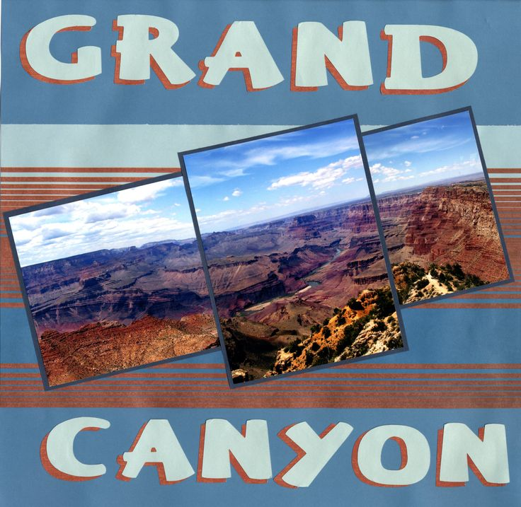 Grand Canyon inspiration (right pg)