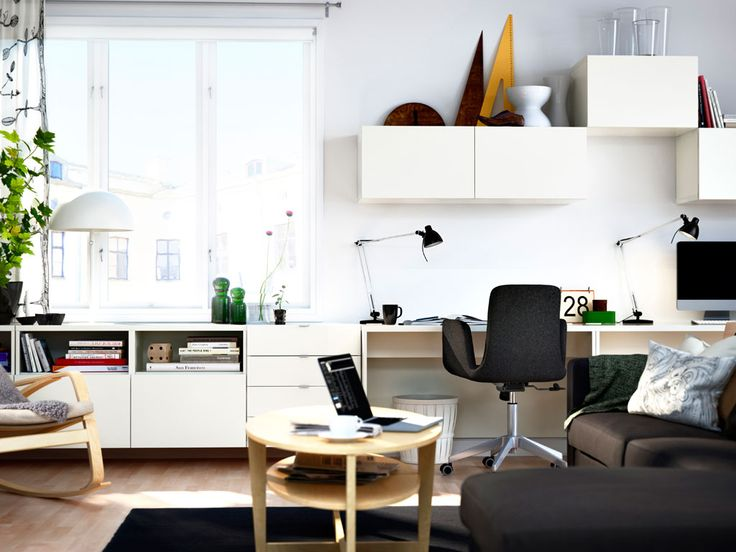 Functional living space    With wall storage, a desk and smart storage solutions you can create a living room that fits your lifestyle.