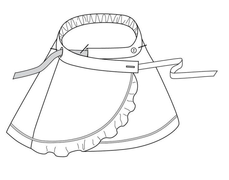 Schnittmuster für einen Wickelrock mit seitlichem Verschluss