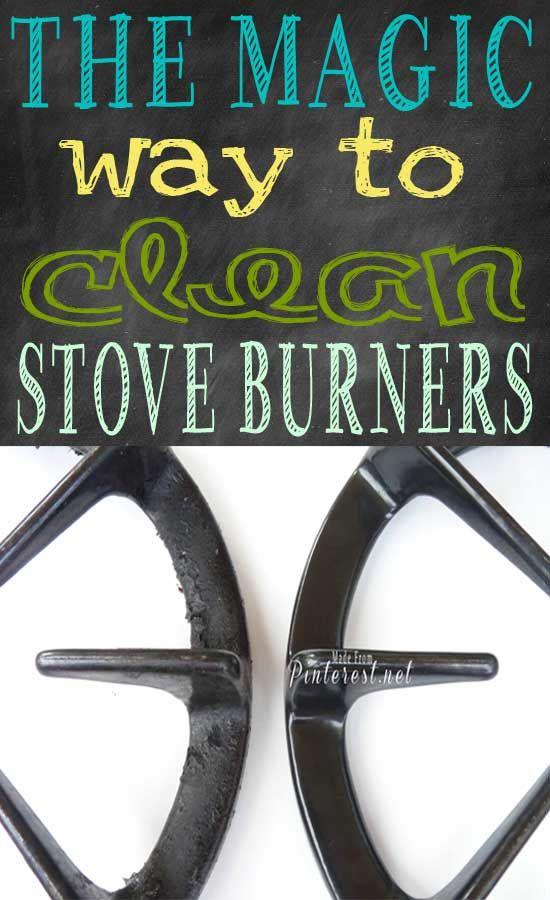 La forma mágica limpiar quemadores de la estufa