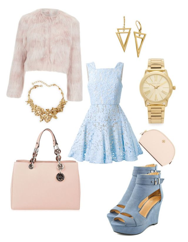 """""""Date Night out"""" by fashion-girl-katrina on Polyvore featuring Tory Burch, Alex Perry, MICHAEL Michael Kors, Michael Kors, Oscar de la Renta, RED Valentino, women's clothing, women, female and woman"""