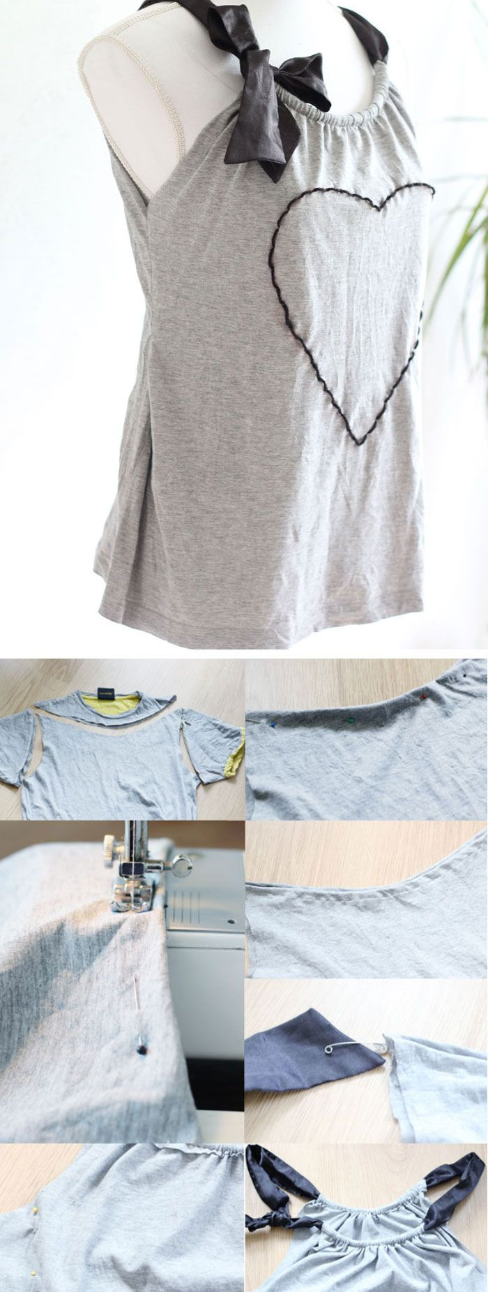 Refashion a Mans Tshirt into a Cute Summer Top | Click Pic for 25 Simple Life Hacks Every Girl Should Know | DIY Clothing Refashion Ideas
