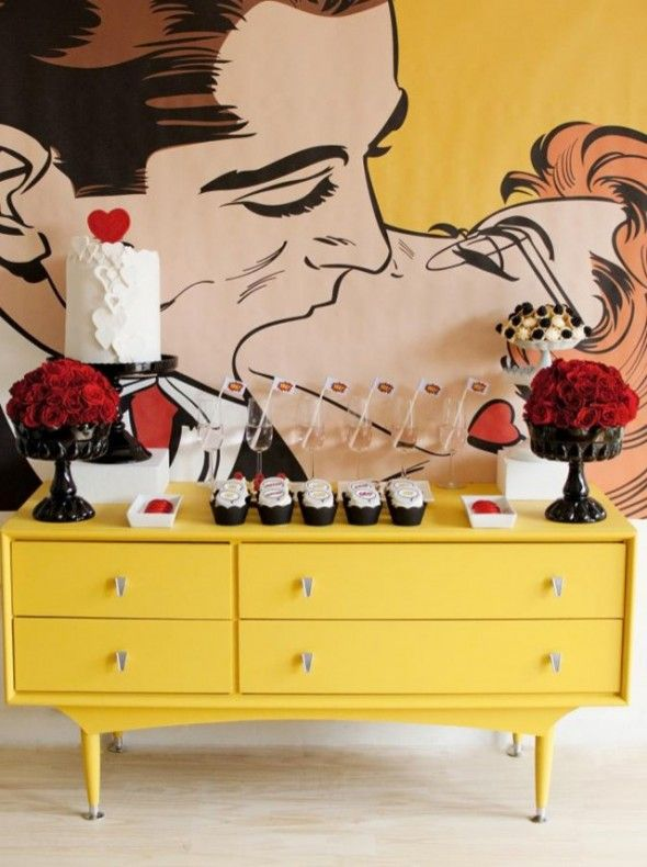 pop art wall.  Rent-Direct.com - Apartments for Rent in NY with No Broker's Fee.