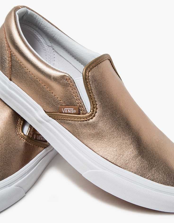 vans classic slip-on in rose gold