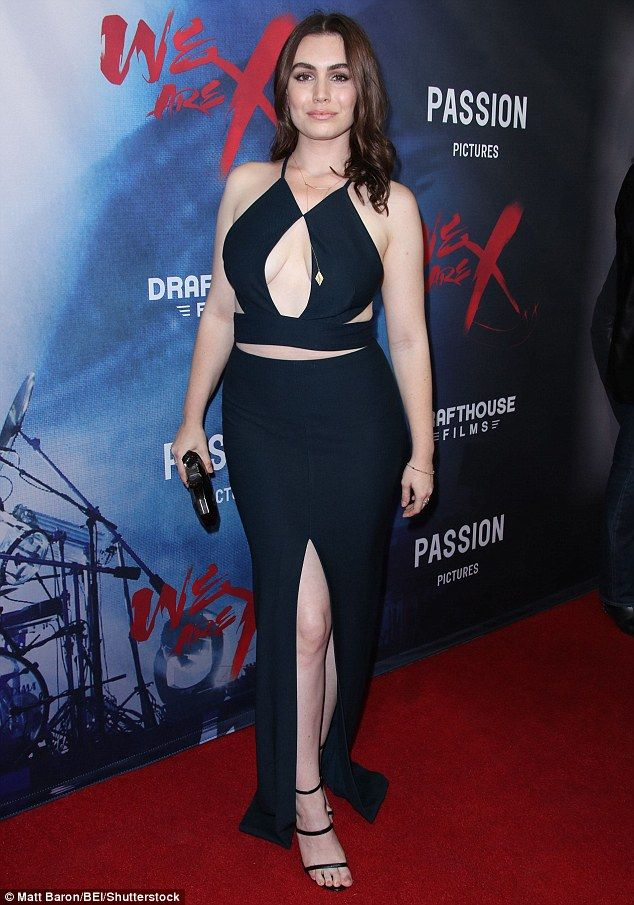 Wow: Sophie Tweed Simmons wowed in a cut-out dress for the Monday premiere of the film We Are X in Los Angeles