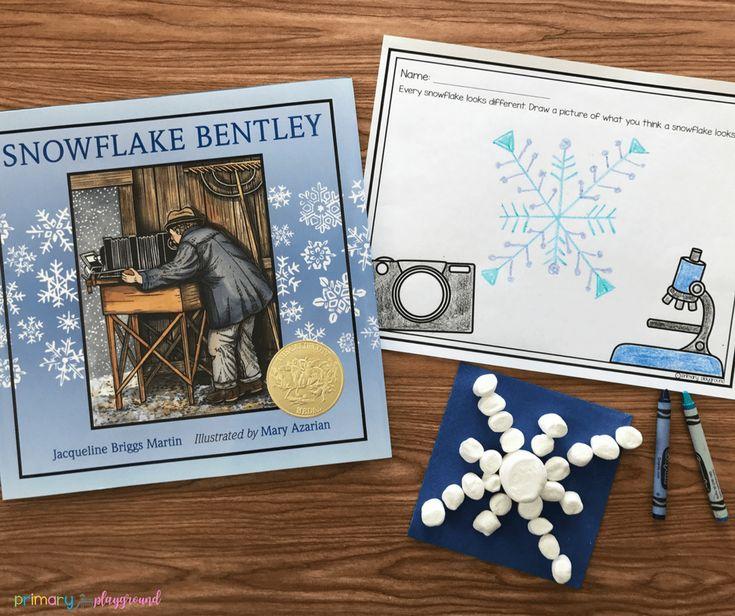 Literacy snack idea snowflake read aloud primary