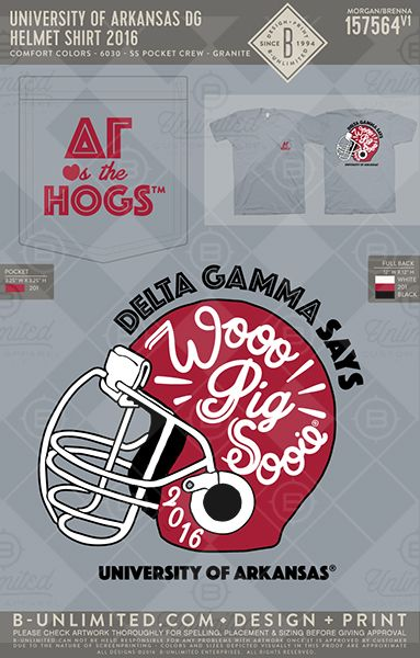 Woo Pig Sooie! University of Arkansas - Delta Gamma  #BUonYOU #greek #greektshirts #greekshirts #sorority #DeltaGamma #DG #gameday #PRshirts