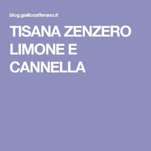 TISANA ZENZERO LIMONE E CANNELLA
