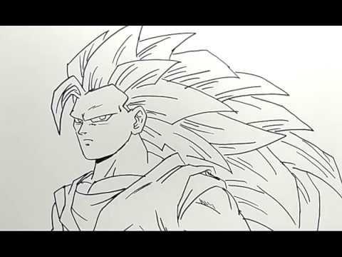 23 Lukisan Naruto Di Dinding Cara Menggambar Songoku Saiya3 Dragonball How To Draw Goku Saiya 3 Download Ilustrasi Kartun Ilustrasi Tutorial Gambar Anime