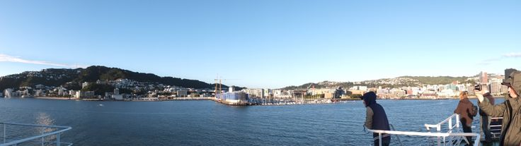 We love Wellington, New Zealand!The coolest little capital as seen from the decks of Arahura.