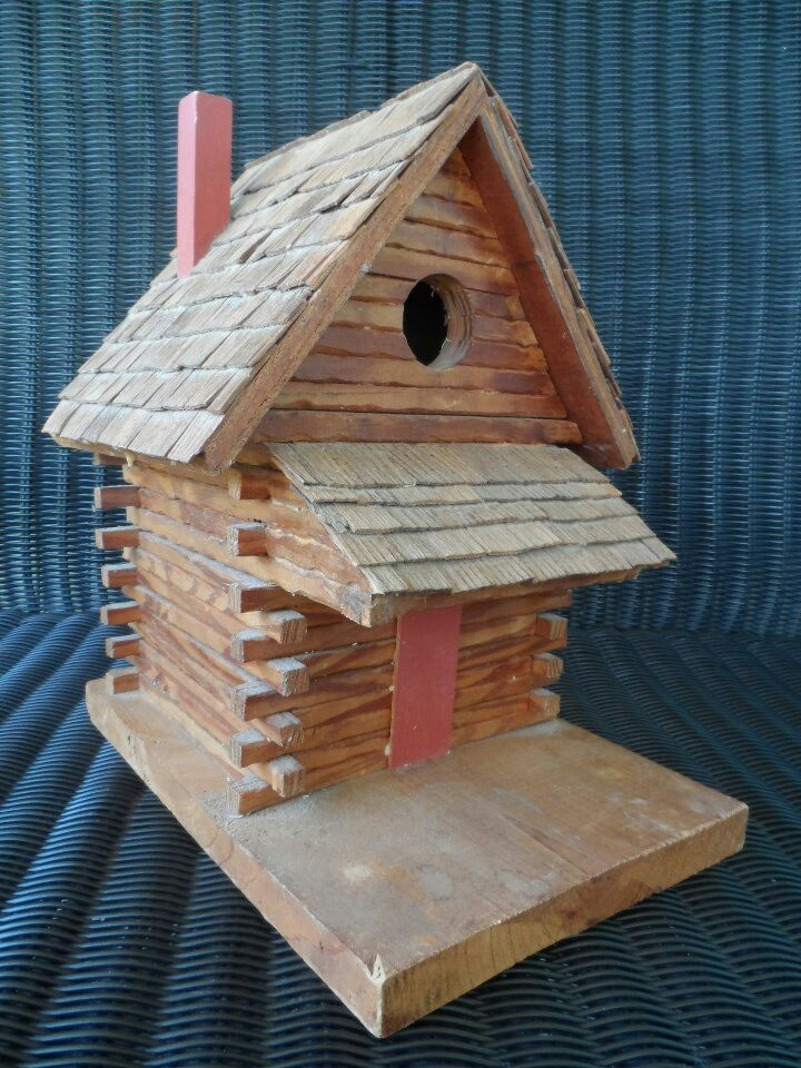 Log Cabin Birdhouse Cute All Things Farm Amp Country