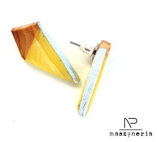 Wood  Amber - Kolczyki futurystyczne (proj. Maszyneria), do kupienia w DecoBazaar.com