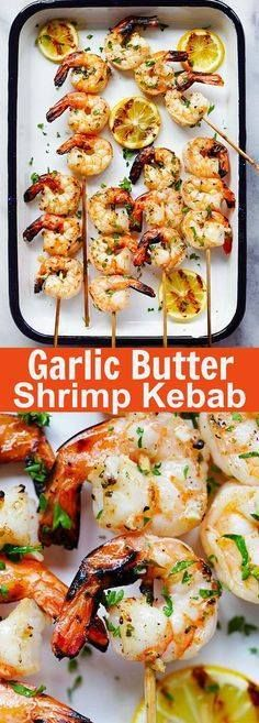 Garlic Butter Shrimp Garlic Butter Shrimp Kebab  juicy...  Garlic Butter Shrimp Garlic Butter Shrimp Kebab  juicy succulent and perfectly grilled shrimp kebab with garlic butter and lemon juice. A guaranteed crowd pleaser | rasamalaysia.com Recipe : http://ift.tt/1hGiZgA And @ItsNutella  http://ift.tt/2v8iUYW