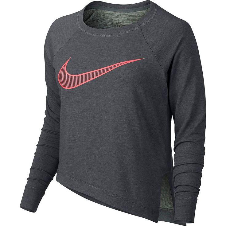 Women's Nike Training Cropped Top, Size: Medium, Dark Grey