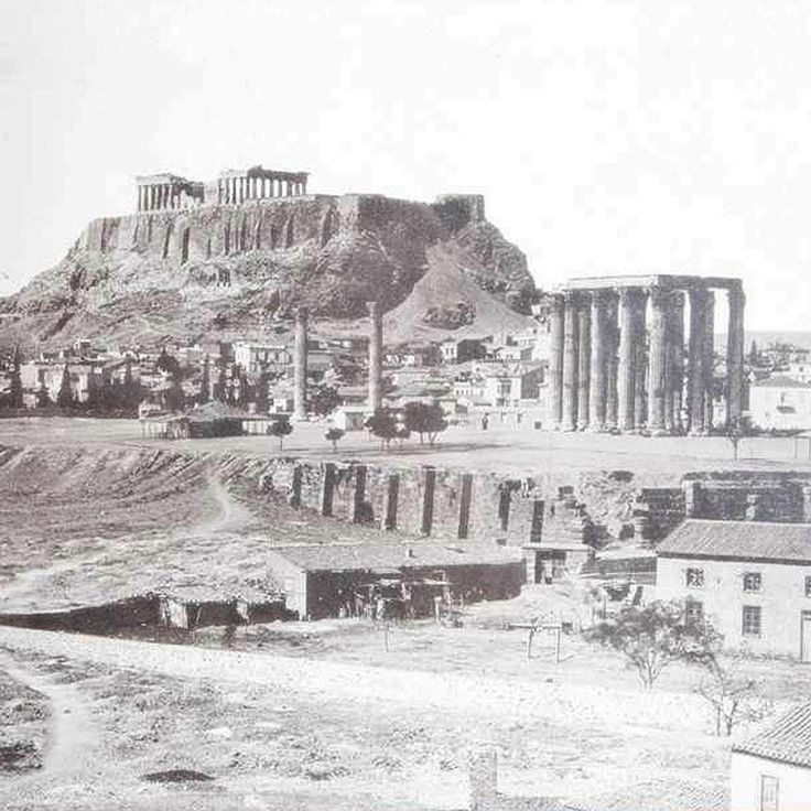 temple of zeus & the acropolis beyond, late 1800s.