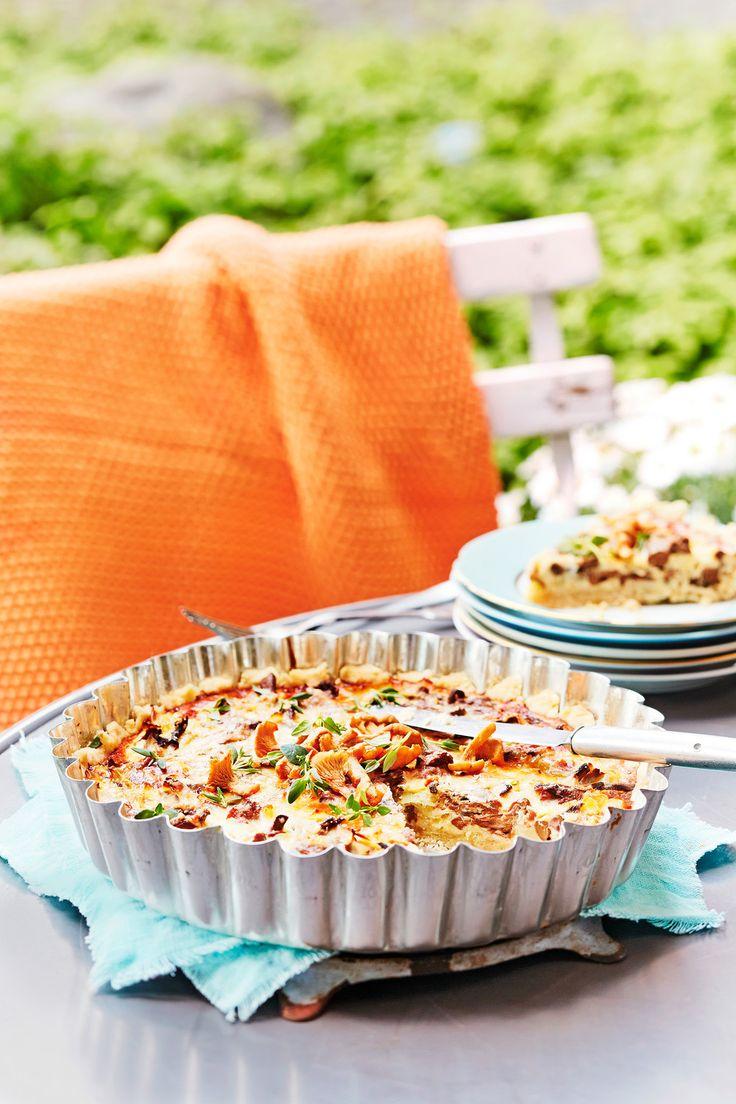 Kantarellipiirakka   K-ruoka #sienet