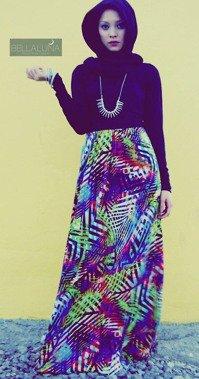 Love this maxi skirt ! #Hijabi #hijab #fashion #Style