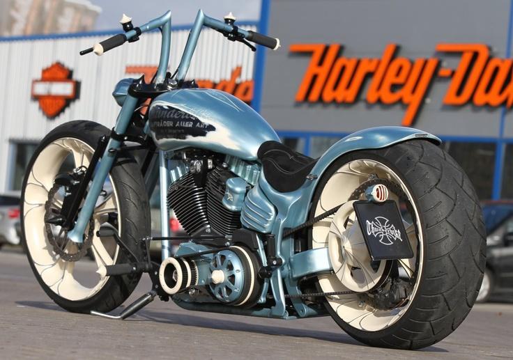 New shot of the Thunderbike Jagged Rocker #Harley #Softail #Rocker/Custom Harley Davidson