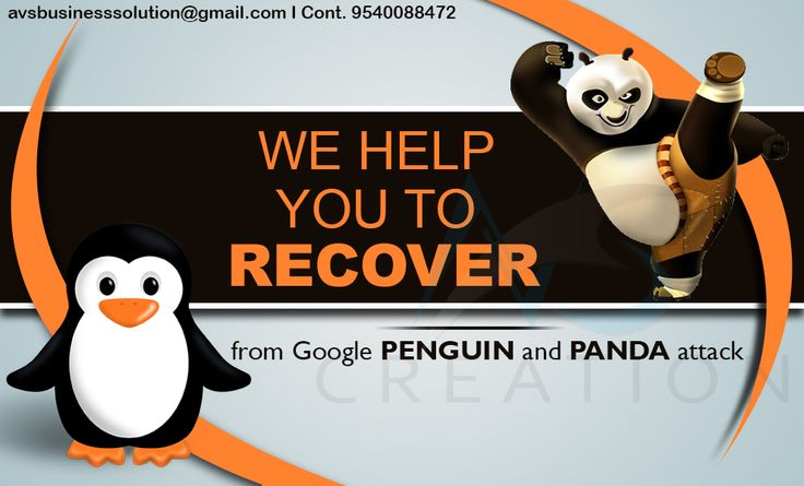 We will help you to come over the Google panda effects