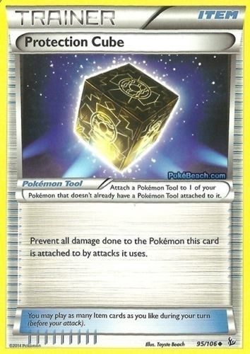 4 x Protection Cube 95/106 - XY Flashfire TRAINER Card #Pokemon