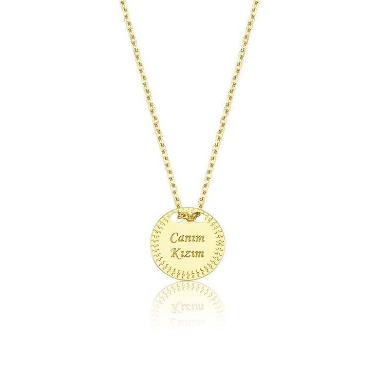 """Altın """"Canım Kızım"""" Kolye #altınbaşlife #kolye #altın #takı #tasarım #hediye #gift"""