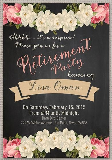 Best 25+ Retirement Invitations Ideas Only On Pinterest
