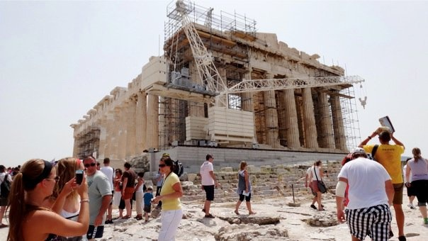 Parthenon, currently being restored as best as possible