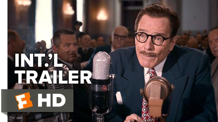 Bryan Cranston gets blacklisted, writes 'Roman Holiday' anyway. New #Trumbo Int.'l Trailer