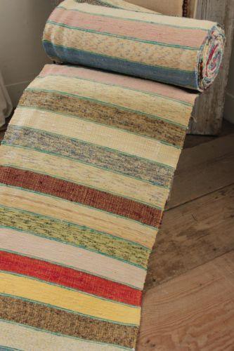 Vintage european rag rug hall carpet stair runner 17 3 for Woven carpet for stairs