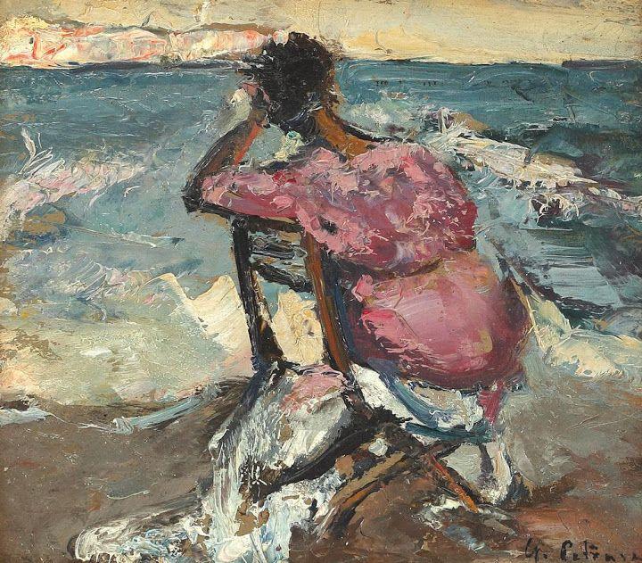 Gheorghe Petrașcu - Femeie pe malul mării