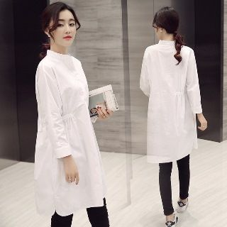 Buy Romantica Long-Sleeve Long Shirt at YesStyle.com! Quality products at remarkable prices. FREE WORLDWIDE SHIPPING on orders over US$ 35.