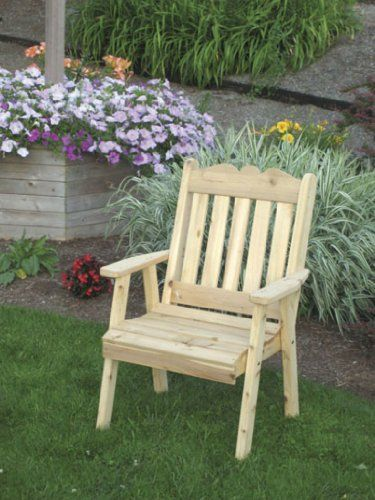 Cedar Royal English Dining Lawn Chair - STAINED- Amish Made USA -Natural - http://rustic-touch.com/cedar-royal-english-dining-lawn-chair-stained-amish-made-usa-natural/