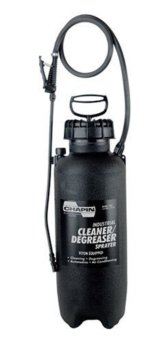 Chapin Industrial 3-Gallon Viton Cleaner/Degreaser Sprayer 2236 by Chapin. $62.64. 3-gallon poly viton tank. Wide opening design for easy filling and cleaning; Lock-off feature prevents accidental discharge. Adjustable poly cone nozzle sprays coarse stream to a fine mist. Cleaner/degreaser sprayer designed for tougher spraying applications. SealTite acid and chemical-resistant seals and gaskets. Amazon.com                The Chapin 3-gallon industrial poly viton cleaner/d...