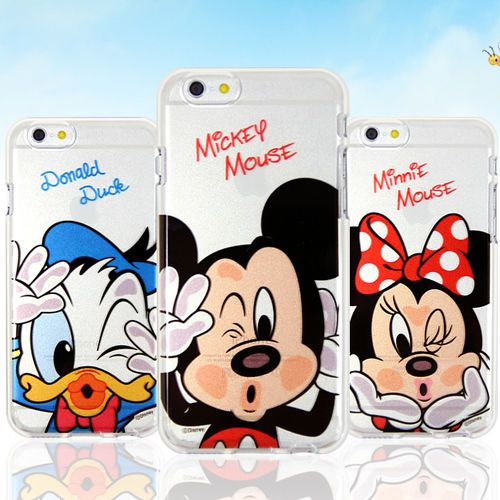 Authentic Disney Kiss Clear Jelly Case Galaxy S6 Case Galaxy S6 Edge Case Korea #Disney