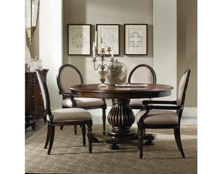 shop for hooker furniture eastridge 54 inch round pedestal dining table leaf and other dining room tables furniture  crafted using hardwood solids and     7 best kitchen images on pinterest   dining rooms chairs and      rh   pinterest com