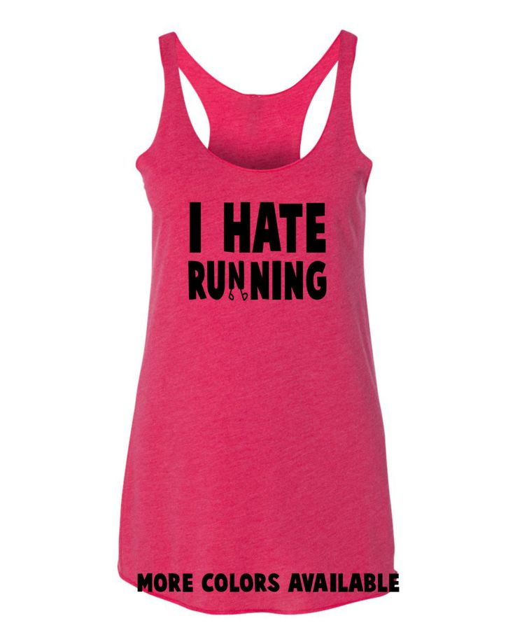 I HATE RUNNING running workout tanktop by runningtops on Etsy