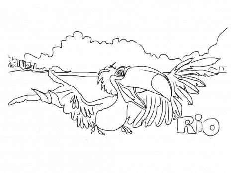 jewel from rio coloring page 18 httpcoloringonwebcom