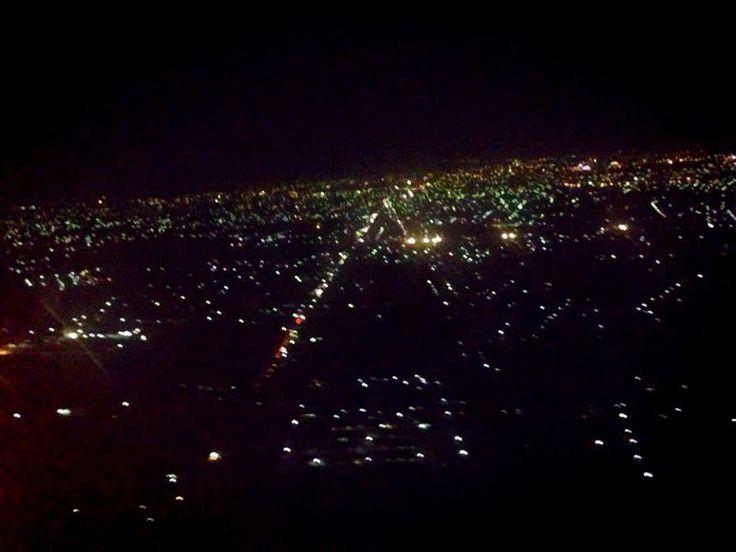 Bandung at night. Bandung, West Java, Indonesia.