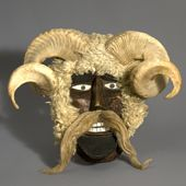 Bušalo mask region of Baranja, 1973 Ethnographic Museum Zagreb n° 24461 Croatia Source:carnivalkingofeurope.it