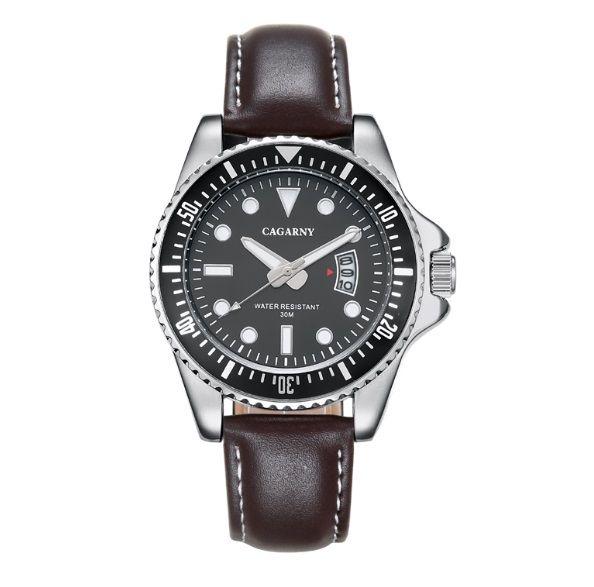 Luxe Merk Cagarny Rol Quartz Horloge Mannen Mode Heren Horloges Lederen Horlogeband Datum Sport Militaire Reloj Hombre Nieuwe in 2016 Quartz Horloge Mannen Horloges Topmerk Luxe Beroemde Polshorloge mannelijke Klok Polshorloge Mode Quartz-horloge  van quartz horloges op AliExpress.com   Alibaba Groep
