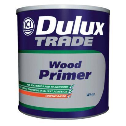 Dulux Trade Wood Primer in White, 2.5L, 5010212570401 £41.98 b&q   Kitchen cabinet