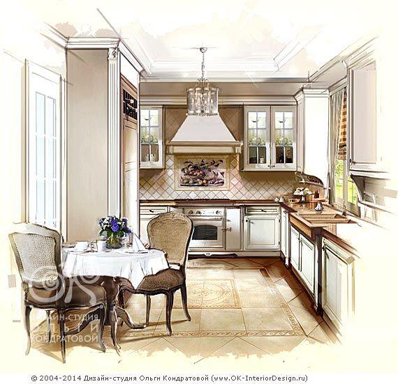 Дизайн кухни в стиле прованс и кантри. Фото интерьеров