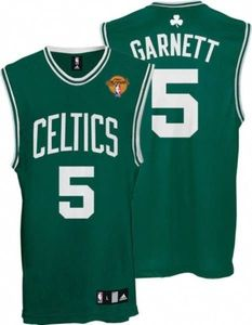 5023d86b8f0 Boston Celtics 5 Kevin Garnett Stitched Green Final Patch NBA Jersey