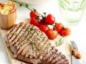 Gegrilde steak met boter van zongedroogde tomaten recept - Vlees - Eten Gerechten - Recepten Vandaag