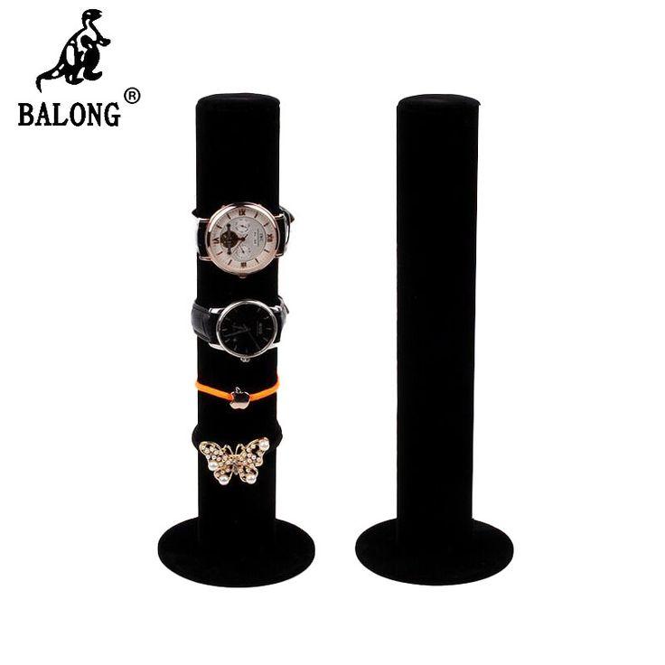 Cylinder Shape Velvet Watch Display Holder Headdress Bracelet Jewelry Storage Rack Shelf Jewellery Display Stand Watch Organizer